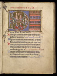 The Trinity and Two Kings, In A Historiated Initial To Psalm 109, In A Psalter